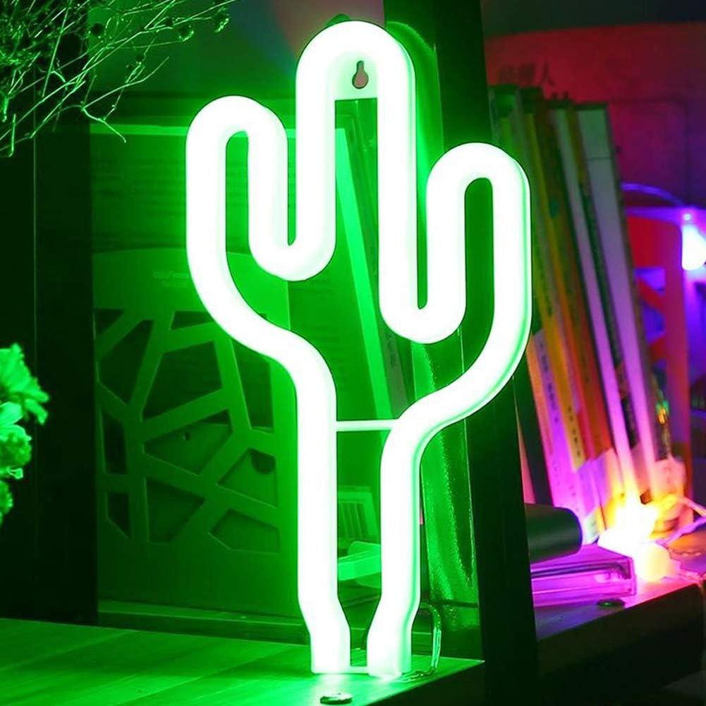 XIYUNTE cataus luz de neón Señales luminosas LED cataus señales de neón Iluminación de ambiente verde cataus Iluminación de interior decoración para, bar, reunirse, navideña