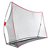 Rapesee 10 x 7ft Golf Practice Training Net Huge Golf Hitting Net Exercise Driving with Bow Frame for Home Training or Outdoor Using