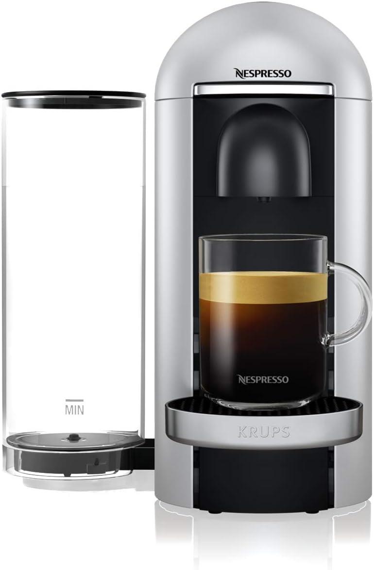 Nespresso Krups - Cafetera expresso Vertuo Plus Silver, cafetera espresso, 5 tamaños de tazas, 1,8 L YY4152FD: Amazon.es: Hogar