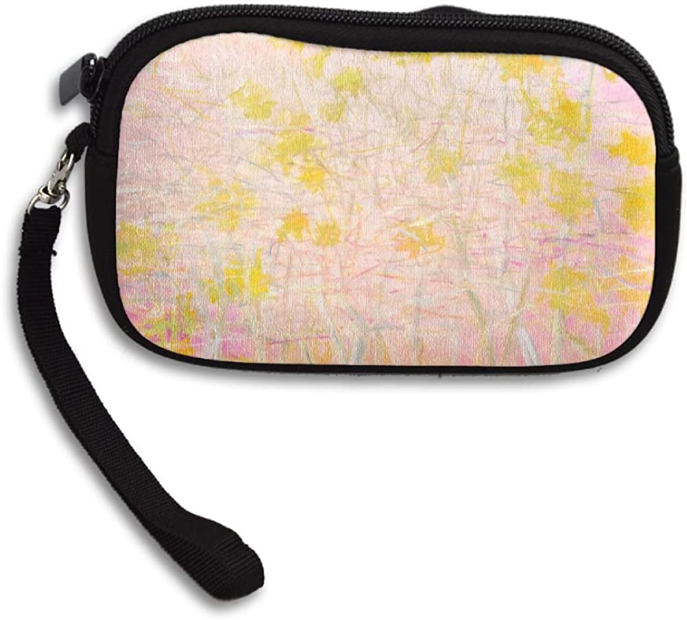 Pink Deluxe Printing Small Purse Portable Receiving Bag
