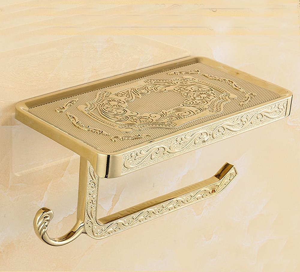 SSBY Rustic toilet paper holder, bathroom tissue holder zinc alloy, unique and creative, open paper plane, chic designs , Gold-plated carve patterns or designs on woodwork by Toilet Paper Holder (Image #2)