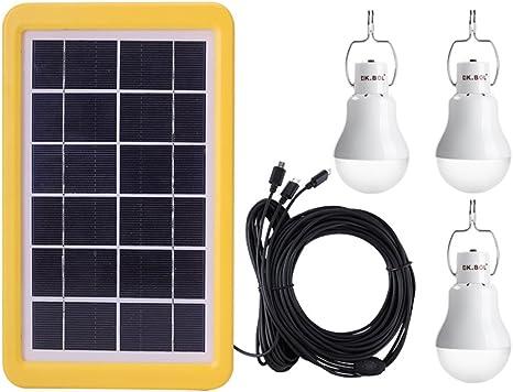 Solarleuchten Solarlampen Solar Glühbirne LED mit Solarpanel Licht Birne 15W DE