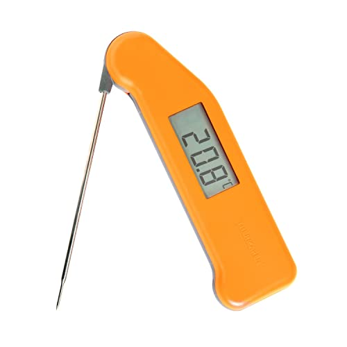 Classic SuperFast Thermapen 3 professional food thermometer in sherbert orange colour