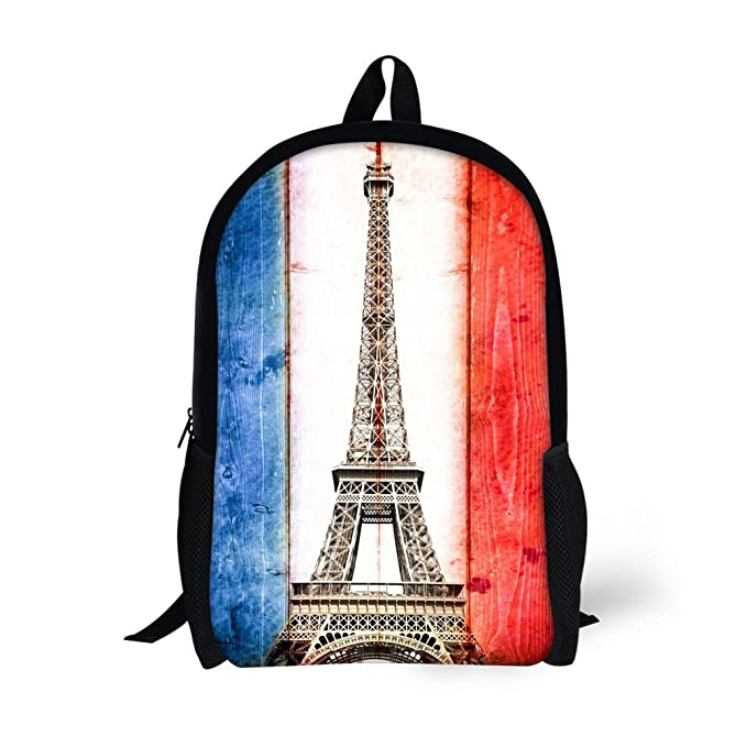 32960cc3243a Image Unavailable. Image not available for. Color  ThiKin Eiffel Tower Children  Backpack Cute Kids School ...