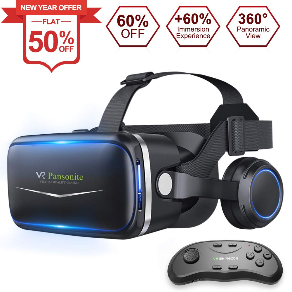 b67382cdd803 Amazon.com  Pansonite Vr Headset with Remote Controller New Version ...