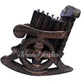 Craftgasmic Beautiful Miniature Rocking Chair Design Wooden Tea Coffee Coaster Set