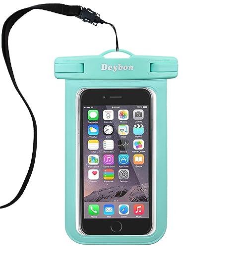 new arrival 1e6f5 d476c Deybon Universal Waterproof Case,Cellphone Dry Bag Pouch for iPhone X,  8/7/7 Plus/6S/6/6S Plus, Samsung Galaxy S9/S9 Plus/S8/S8 Plus/Note 8 6 5 4,  ...