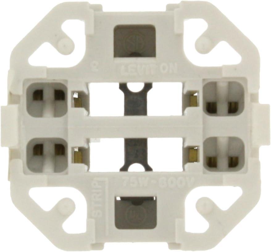 Leviton 26725-429 Vertical Snap-in Fluorescent Lampholder for 26/32/42 Watt Lamps, White