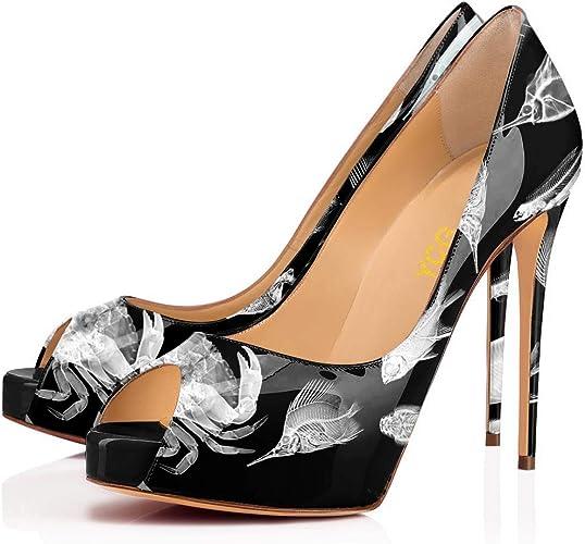 Womens Pointy Toe High Stiletto Heel Slip On Pump Party Shoe Multi-color Plus Sz