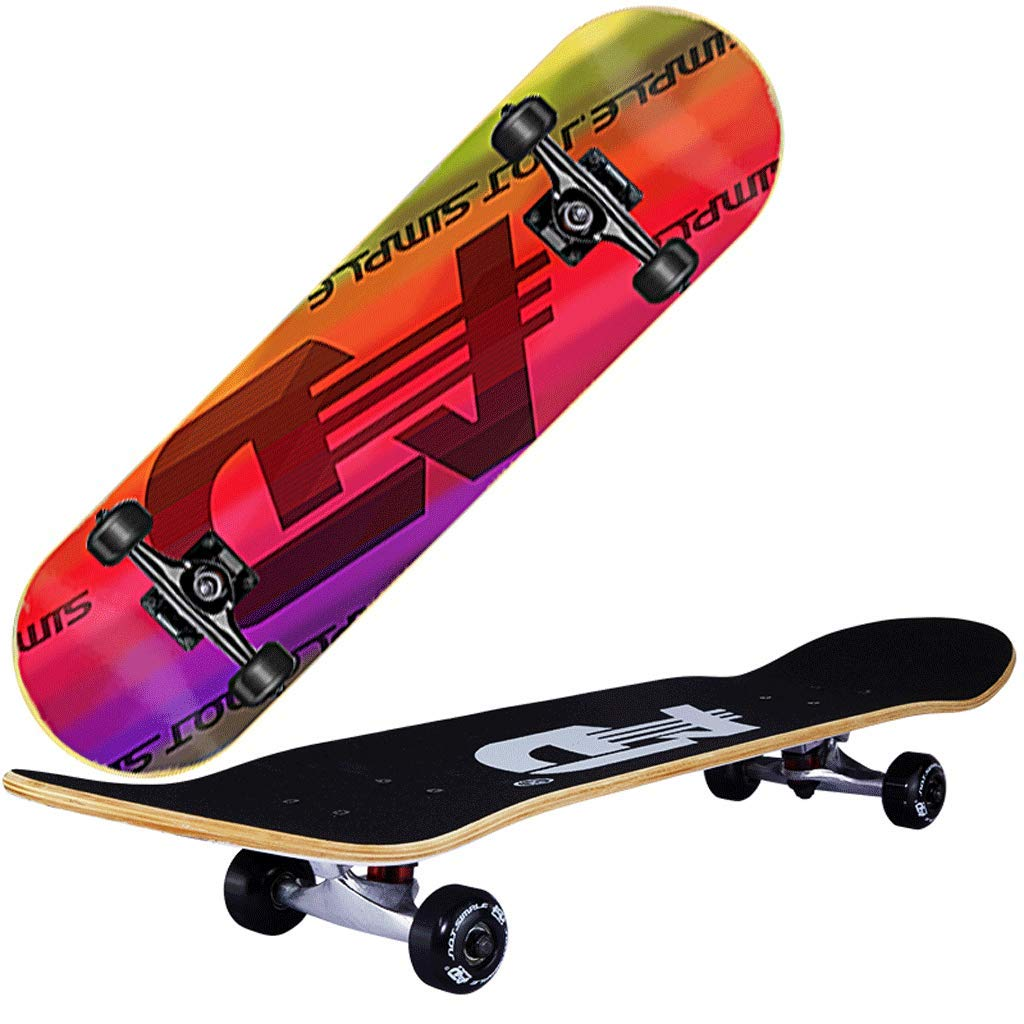 【日本産】 スケートボード四輪ダブルロッカー大人子供と青年初心者プロフェッショナルメープルロングボード ( ( Color ) : A ) A B07LF3RD3G, Apple free:6fe12728 --- a0267596.xsph.ru