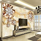 Ohcde Dheark Wall Panel 3D Wallpaper Marble Diamond Jewelry Background Modern Europe Art Mural For Living Room Large Painting Home Decor300cmX210cm