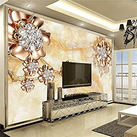 Wallpaper Experten Wall Panel 3D Marble Diamond Jewelry Background Modern Europe Art Mural For Living