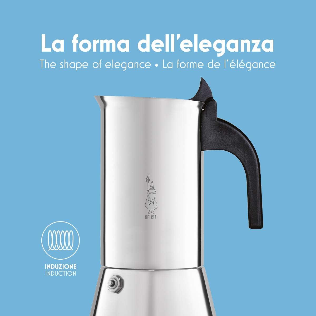 Bialetti Venus Cafetera Italiana Espresso, Acero, Plateado: Amazon ...