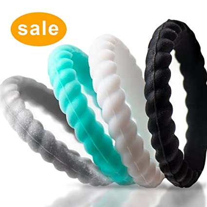 Amazon Com Silicone Wedding Rings For Women Large Size 9
