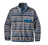 Patagonia Womens Light Weight Synch Snap Pull Over (Medium, Smolder Blue)