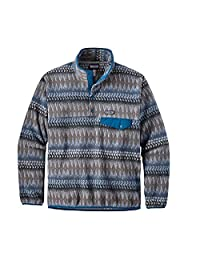Patagonia Womens Light Weight Synch Snap Pull Over (Large, Smolder Blue)