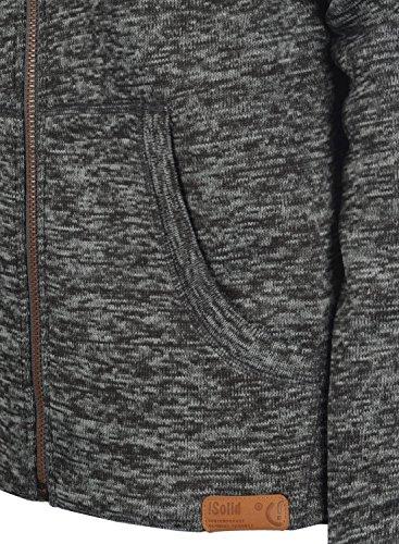 Luki Hombre Para Grey Dark Vellón Forro Polar Alto Con Con De Al Tacto Solid Chaqueta Sudadera Melange Con Cremallera Cuello Suave 8288 80UnHqfd