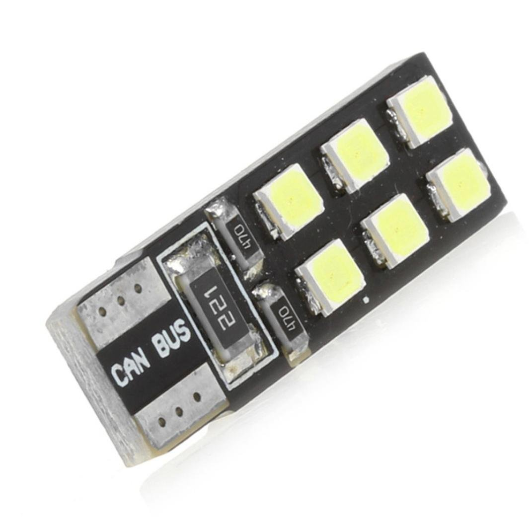 Leey 10 x T10 2835 125MD W5W Car LED Larghezza luce CANBUS No Error Targa lampada (Multicolor)