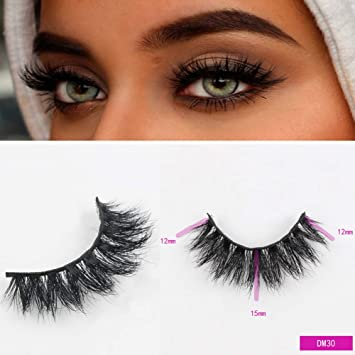 78bf4fe2436 Amazon.com : Sassina Mink Lashes 3D Mink False Eyelashes Long Lasting Lashes  Natural Lightweight Mink Eyelashes Glitter Packaging New 1 Pair DM30 :  Beauty