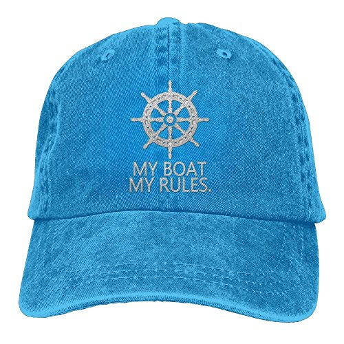 Gorras béisbol My Boat My Rules Adult Embroidered Cowboy Hat Sports Hat