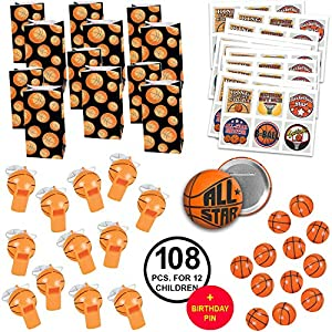 Basketball Party Favors Basketball Birthday Party Basketball Team Party Favors Large Bundle for 12