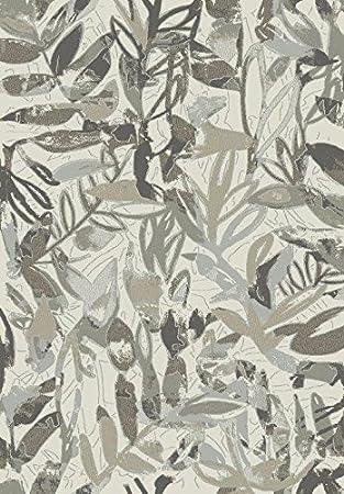 Amazon De Galicarpet Pisa Teppich Grau Blau Beige Modern Leaves 300