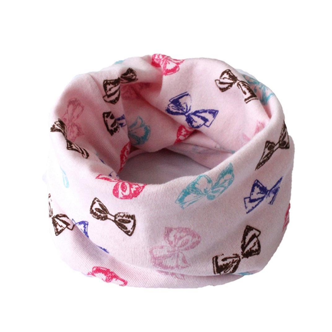 Molyveva Soft Autumn Winter Kids Cute Scarf Cotton O Ring Neck Scarves
