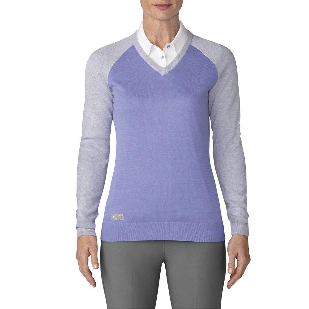 adidas Golf Women's Essentials Sweater, Chalk Purple HT, Large
