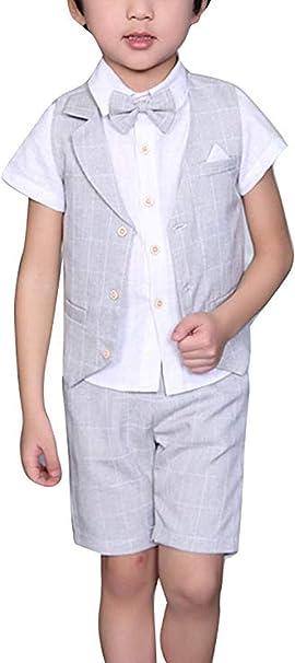 Amazon.com: Conjunto de ropa para niños + camisa + pajarita ...
