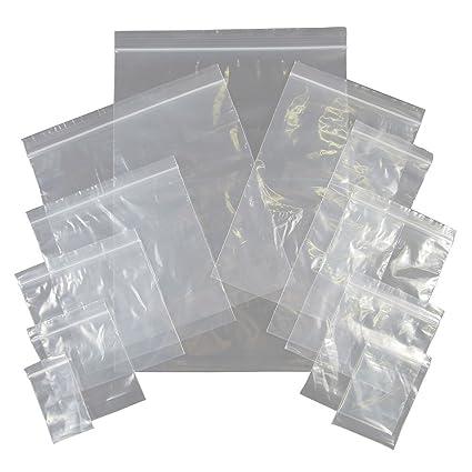 Lote de 100 bolsas multiusos con cierre hermético, 200 x 250 ...