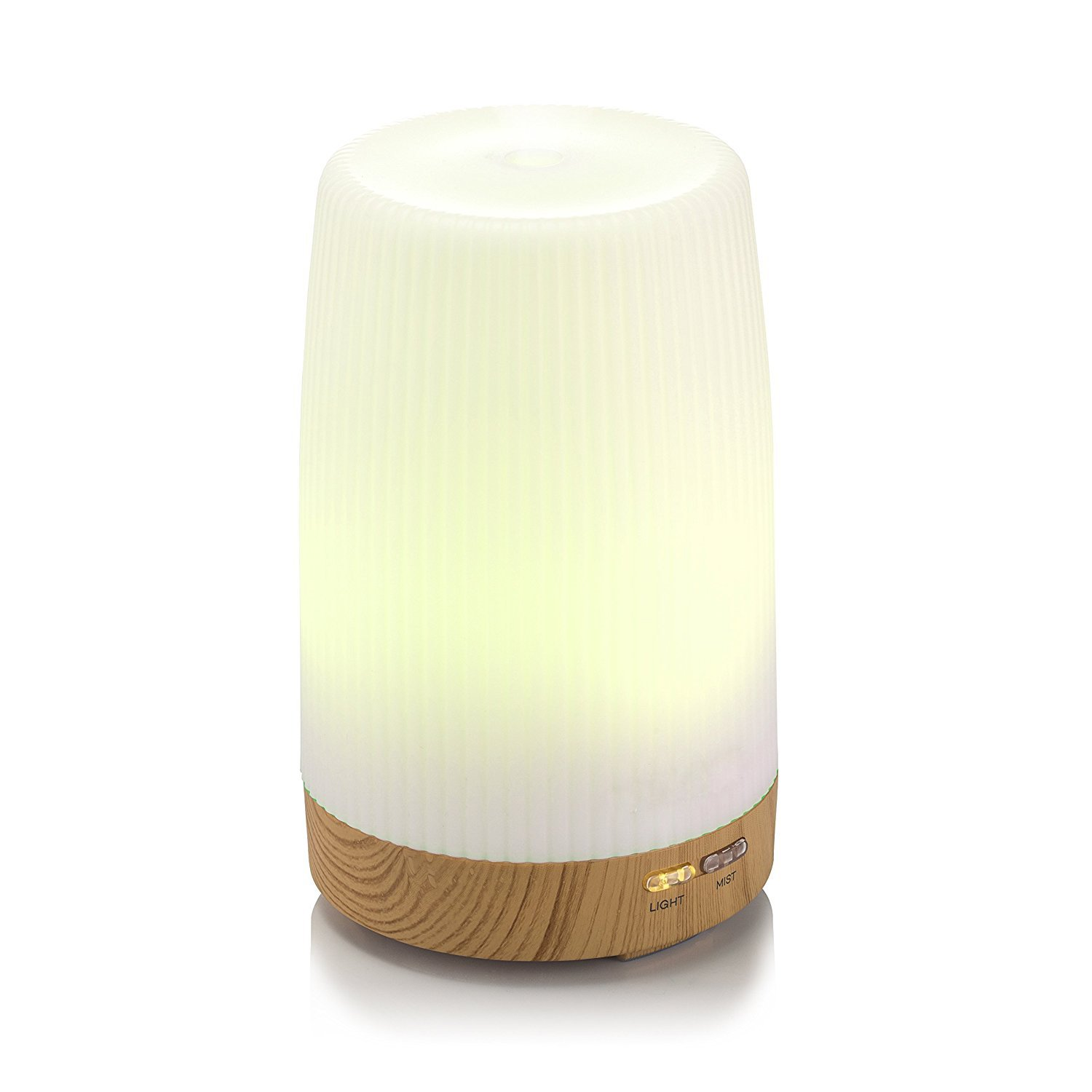 Qkfly Ultrasonic Essential Oil Diffuser with 7 Color Lamp 100ml Aroma Diffuser Auto Shutoff System for Office Bedroom Child's Room Spa Yoga