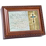 My Prayer Box Cares to The Lord Wood Finish Jewelry Music Box Plays We Have a Friend in Jesus