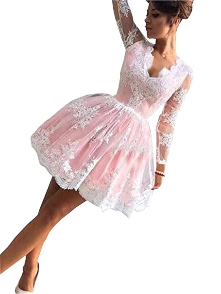 Banfvting Short Prom Dress African Girls Sexy V Neck Lace