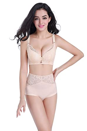 fbb0d45071b Lace Lingerie Set Plus Size Push Up Lace Intimate Women Underwear Bra Set  Bra Brief at Amazon Women s Clothing store