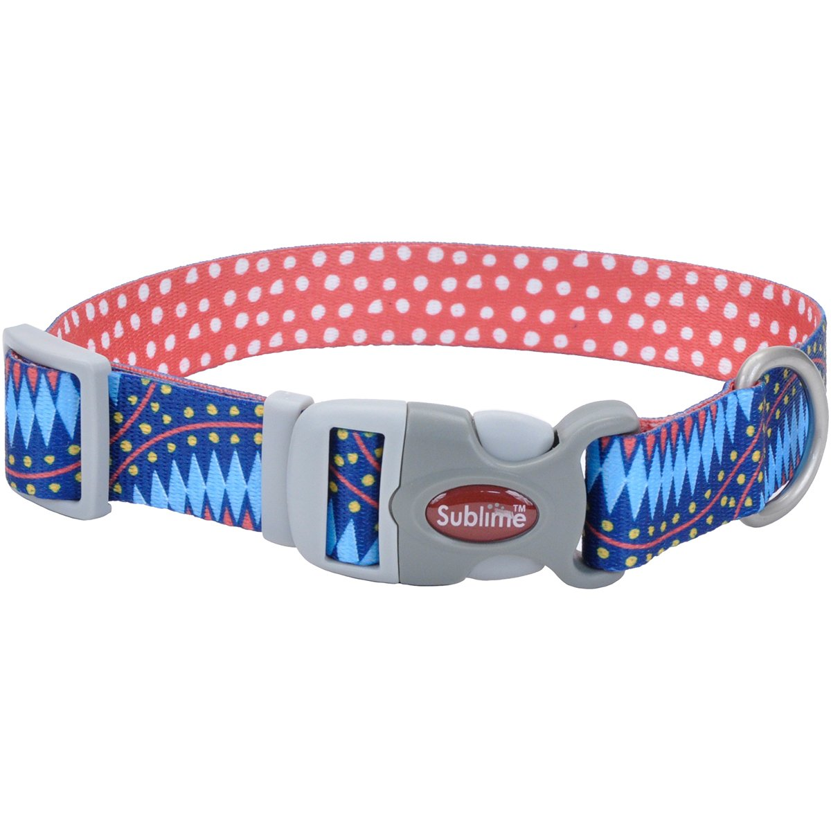 Coastal Pet Products 23921 BDD26 Sublime 1.5  Dog Collar-bluee Diamonds W Dots, Neck Size Harnesses, 18-26