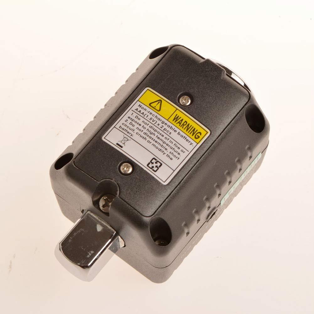 1//2 Zoll 10-200 Nm digitaler Drehmomentschl/üssel,elektronisches Digitalanzeigen-Drehmomentmessger/ät,das h/äufig in der Maschinerie,Luftfahrt,Eisenbahn,Wartung,Inspektion usw.verwendet wird Schwarz