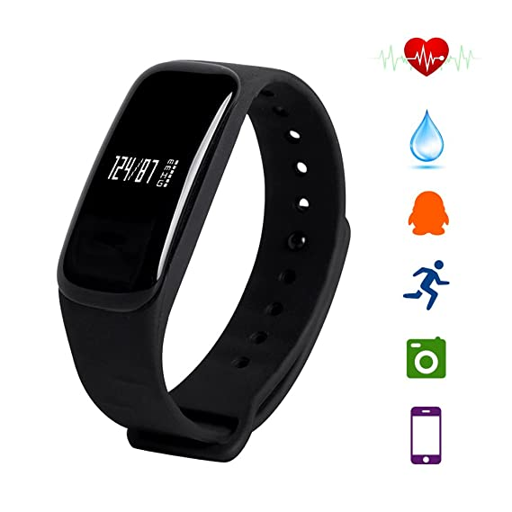 Amazon.com : Istyle Latest M8 Bluetooth 4.0 Smart Bracelet Blood Pressure/Heart Rate Monitor/Waterproof Fitness Tracker Android iOS Smartphones (Black) ...