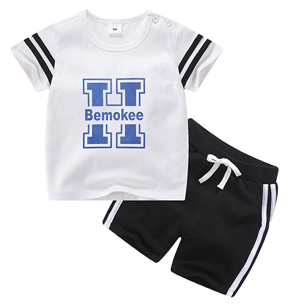 Boy Letter Print Flowing Comfortable Athletic Short Clothe Set
