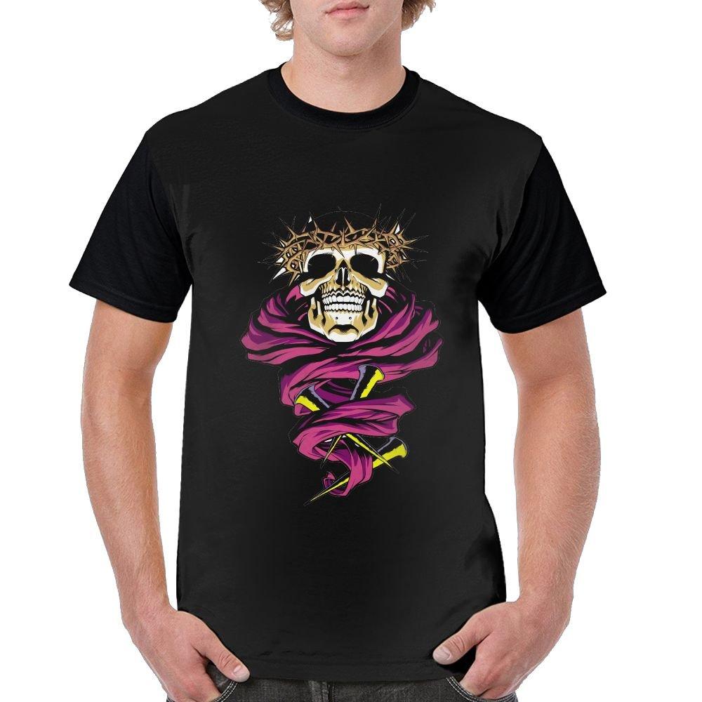 Label Christ Skull Stylish Short Sleeved T Shirt 2299