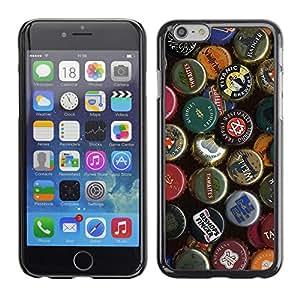 CaseCaptain Carcasa Funda Case - Apple Iphone 6 / Beer Cap Collection /