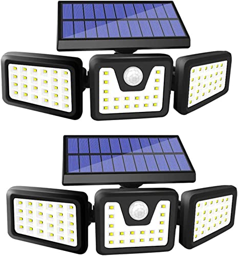 FURANDE Solar Lights Outdoor, Super Bright 70 LED Solar Motion Sensor Lights Outdoor IP65 Waterproof 270 Wide Illumination Security Lights Motion Outdoor for Yard,Garage, Pathway 2 Pack