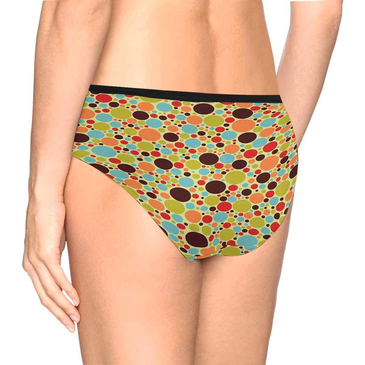 INTERESTPRINT Womens High Waist Underwear Soft Panties XS-3XL