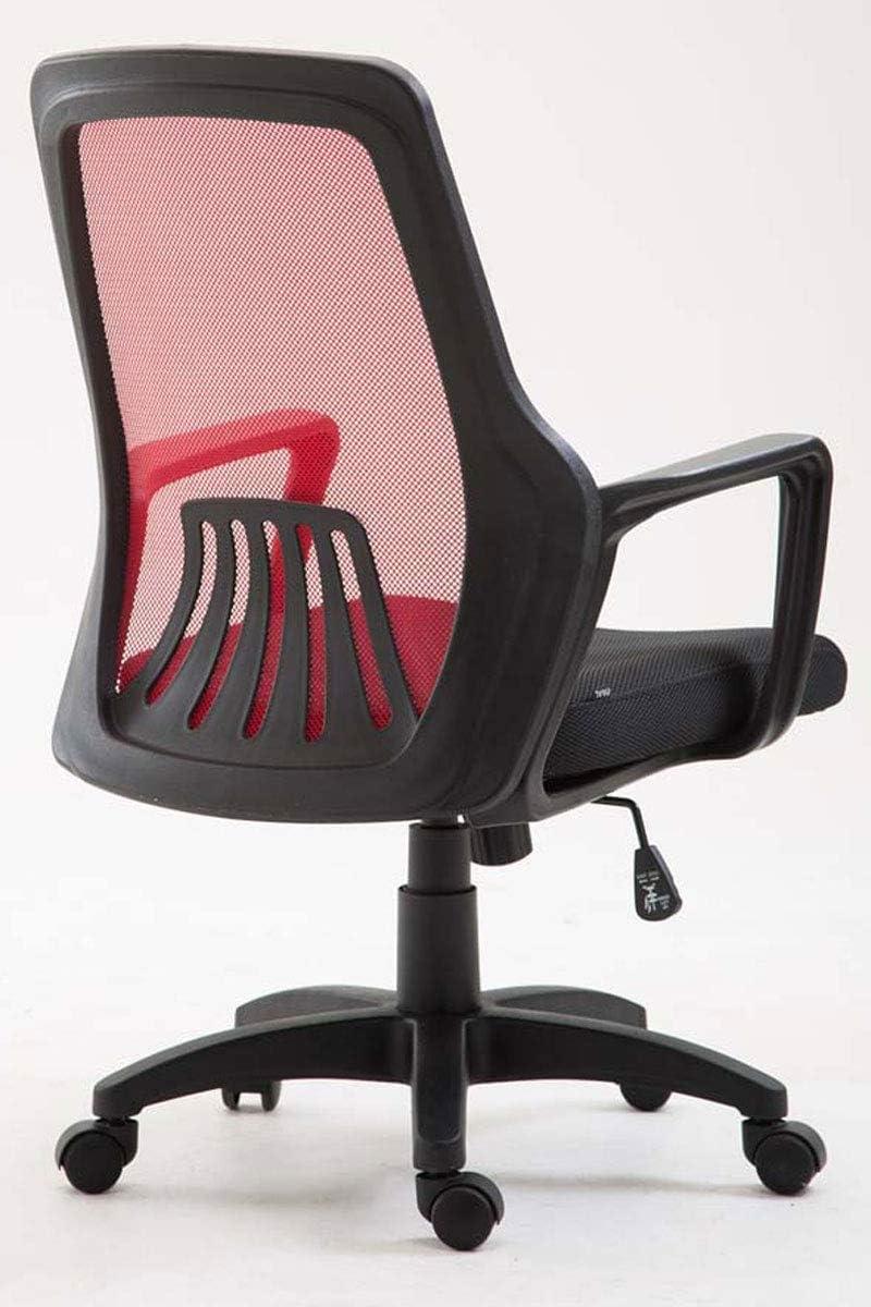 CLP Chaise de Bureau Clever Ergonomique Revêtement Mailles sur Piètement Plastique à 5 roulettes I Fauteuil de Bureau Réglable en Hauteur et Siège