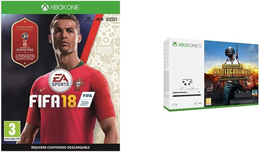 FIFA 18 - Edición estándar + Xbox One S - Consola de 1 TB + Playerunknowns Battlegrounds: Amazon.es: Videojuegos
