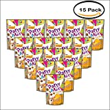 Pack of 15 - Purina Friskies Party Mix Crunch Morning Munch Cat Treats 2.1 oz. Pouch
