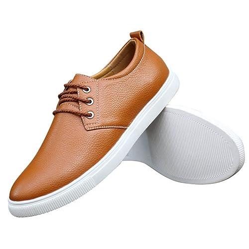Zapatos de Cordones para Hombre, Zapatos de Hombre de Cuero PU, Zapatos de Vestir Hombre, Zapatos Casuales Zapatos Bajos de Bandas Oxfords Zapatos: ...