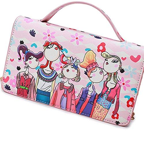 Bolso Negro Grey Impresión Pequeño Cruzado Paquete Diagonal Compras Las Gris Solo De Señoras Mujeres Shoutibao Pink La Rosa Hombro Cuadrado SU5wqqa