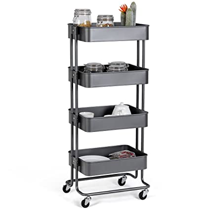Beau Giantex Rolling Utility Cart Mobile Storage Organizer Multifunctional Home  Office Storage Trolley Serving Cart W/