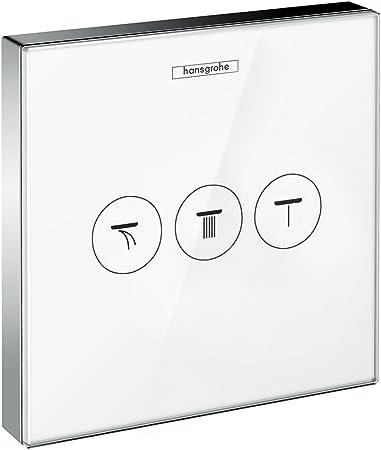 15736400 Hansgrohe Robinet Encastr/é Show Erse Select Verre 3/consommateurs Blanc//chrom/é