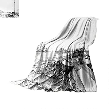 Amazon com: Anhuthree Sketchy Custom Design Cozy Flannel Blanket